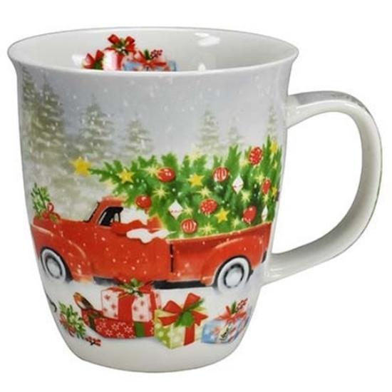 Porcelán bögre - 400 ml -Vollgas Weihnachten