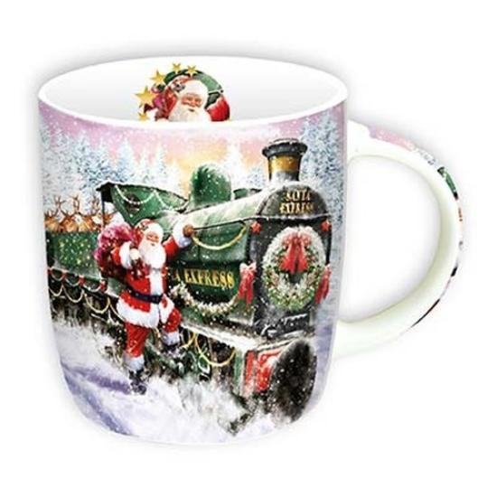 Porcelán bögre 350 ml, Winter Zug