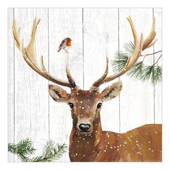 Robin & Deer papírszalvéta 33x33cm, 20 db-os