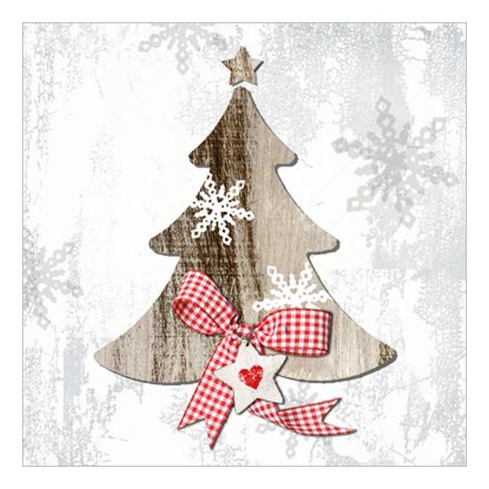 PPD.C3332163 Country Xmas Tree1 papírszalvéta 33x33cm,20db-os