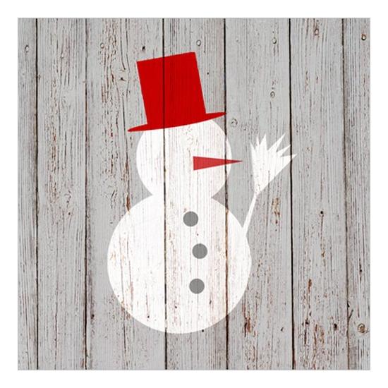 Snowman on Wood papírszalvéta 33x33cm, 20 db-os