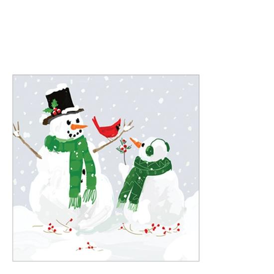 PPD.B3252227 Snowmen & Cardinal papírszalvéta 25x25cm, 20db-os