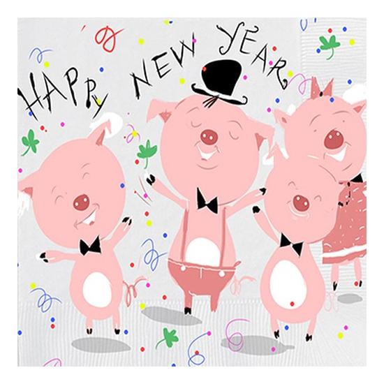 PPD.C3332630 New Year Chor papírszalvéta 33x33cm,20db-os