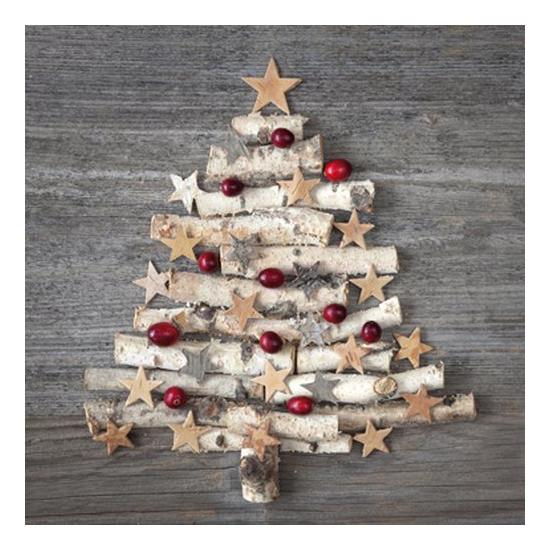 PPD.C3331741 Wood Ornament Tree Papírszalvéta 33x33cm,20db-os