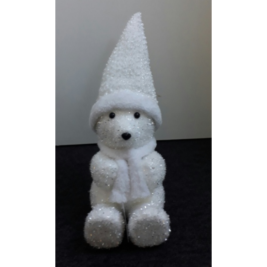 T.S.714043 Világítós jegesmedve LED-es 25cm,hungarocell