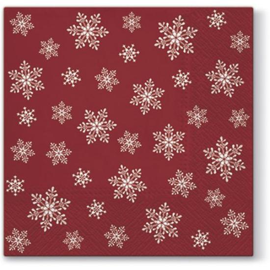 Stars Everywhere red papírszalvéta 25x25cm,  20 db-os