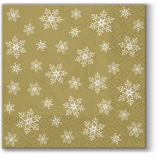 Stars Everywhere gold papírszalvéta 25x25cm,  20 db-os