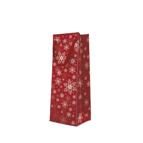 Stars Everywhere red papír ajándéktáska italos 12x37x10 cm