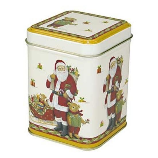 Santa and Teddy konyhai fémdoboz 71x71x93mm