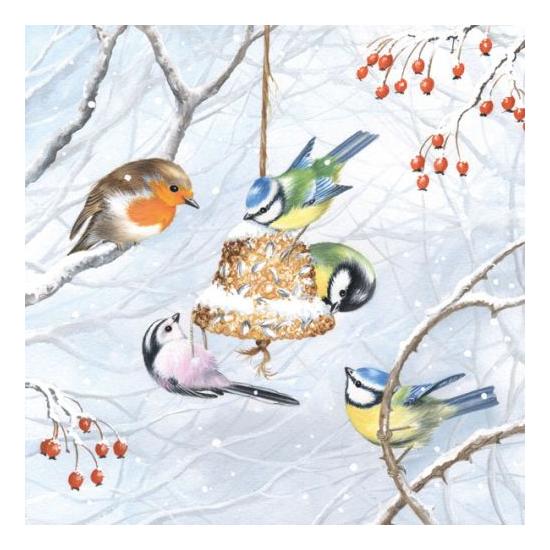 AMB.33304545 Winter Birds papírszalvéta 33x33cm,20db-os