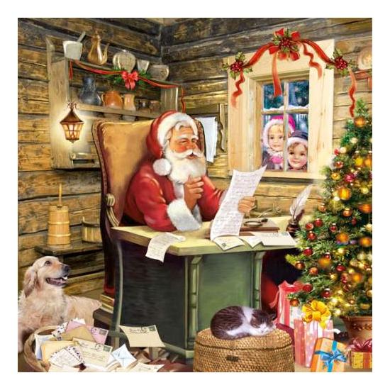 Santa's Mail papírszalvéta 33x33 cm, 20 db-os