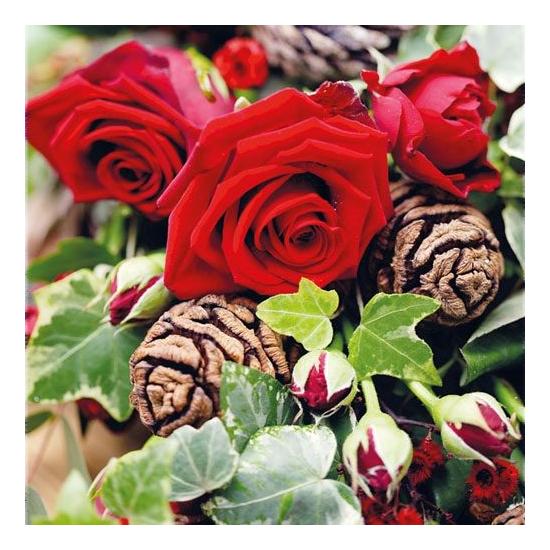 Roses papírszalvéta 33x33cm, 20 db-os
