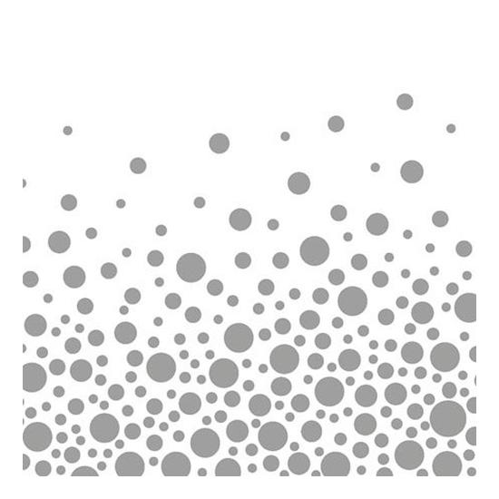 AMB.13308821 Sparkling Dots Silver papírszalvéta 33x33cm,20db-os