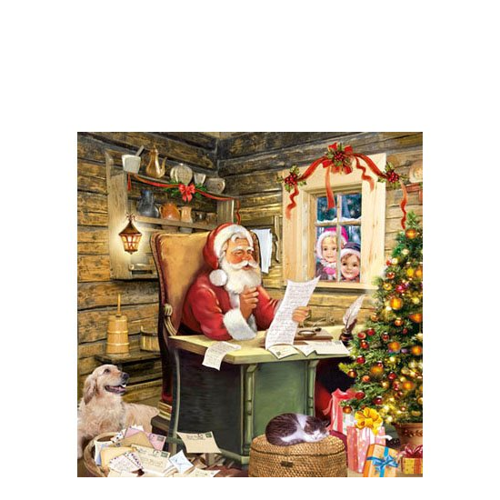 AMB.32504615 Santa's Mail papírszalvéta 25x25cm,20db-os