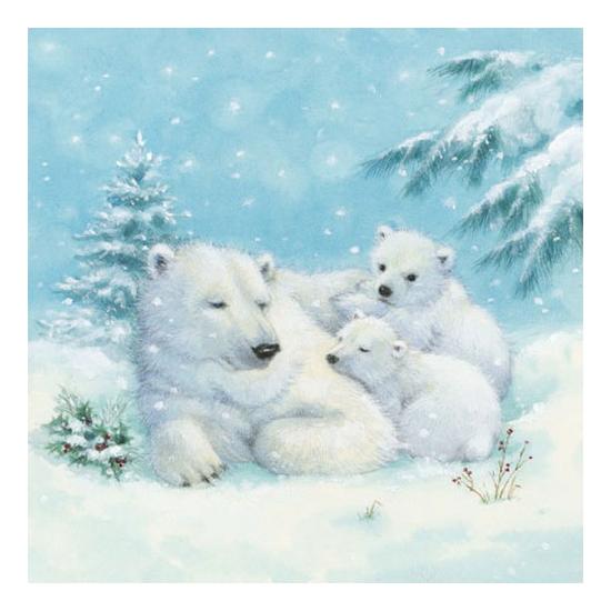 Polar Bears papírszalvéta 25x25 cm, 20 db-os