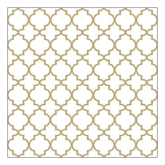 Ogge Gold Outline papírszalvéta 33x33 cm, 20 db-os