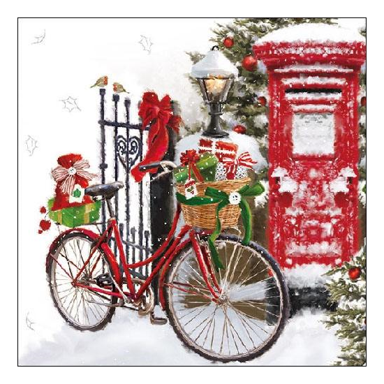 Bike In Snow Papírszalvéta 33x33 cm, 20 db-os