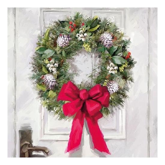White Wreath papírszalvéta 33x33 cm, 20 db-os