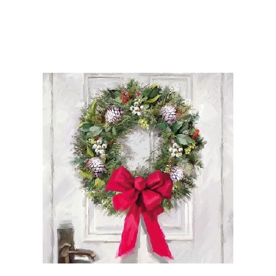 AMB.32510680 White Wreath papírszalvéta 25x25cm,20db-os