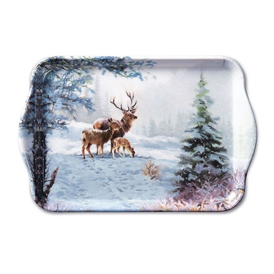 AMB.33710565 Deer Family műanyag kistálca 13x21cm