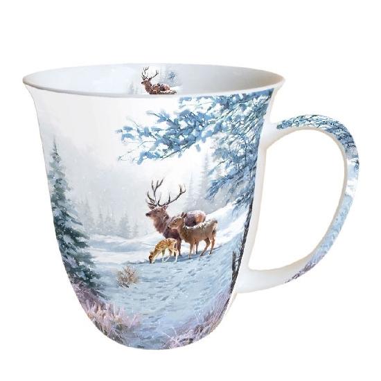 Deer Family porcelán bögre 0,4l