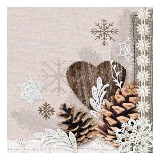 Winter Nature papírszalvéta 33x33 cm, 20 db-os