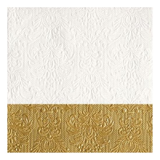 Elegance Dip Gold papírszalvéta 33x33 cm, 20 db-os