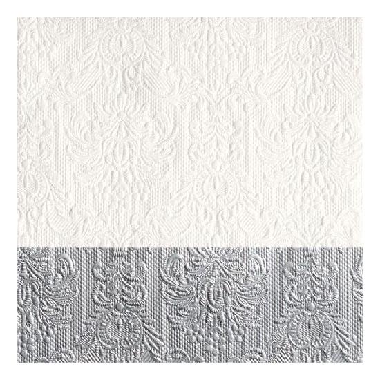 Elegance Dip Silver papírszalvéta 33x33 cm, 20 db-os