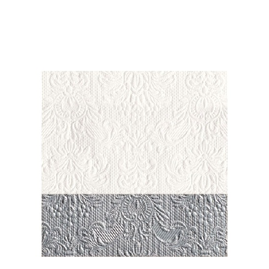 Elegance Dip Silver papírszalvéta 25x25 cm,  20 db-os