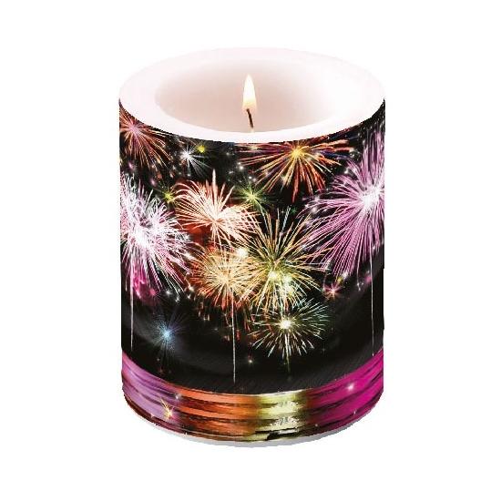 Fire Works átvilágítós gyertya 12x10 cm