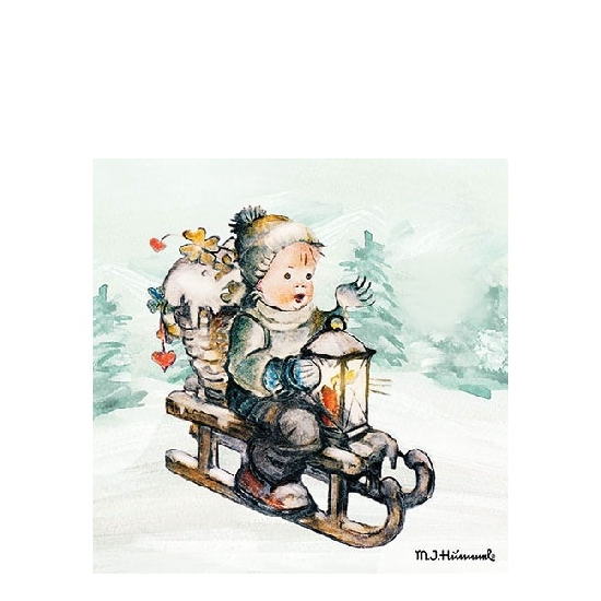 AMB.32510770 Ride Into Christmas papírszalvéta 25x25cm,20db-os