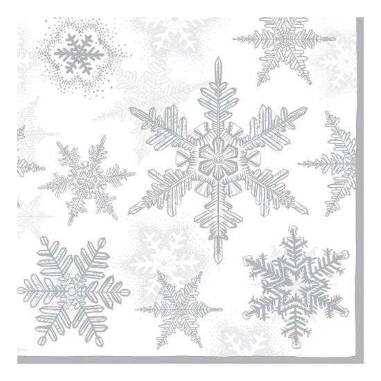 Snow Crystals silver papírszalvéta 33x33 cm, 20 db-os