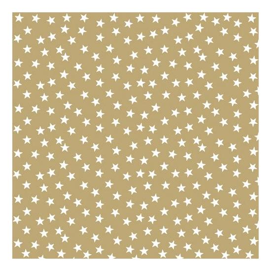 AMB.33303831 Stars And Trees gold Neg. papírszalvéta 33x33cm,20db-os