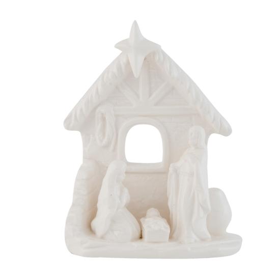 Porcelán dísztárgy 15x7x18cm, Betlehem