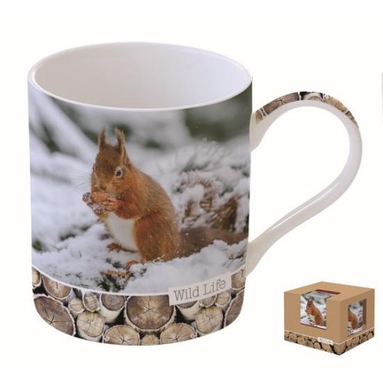 R2S.282WLSQ Porcelán bögre dobozban 350ml,Wild Life-Squirrel